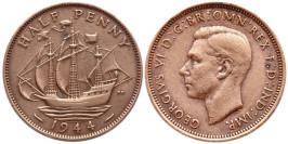 1/2 пенни 1944 Великобритания