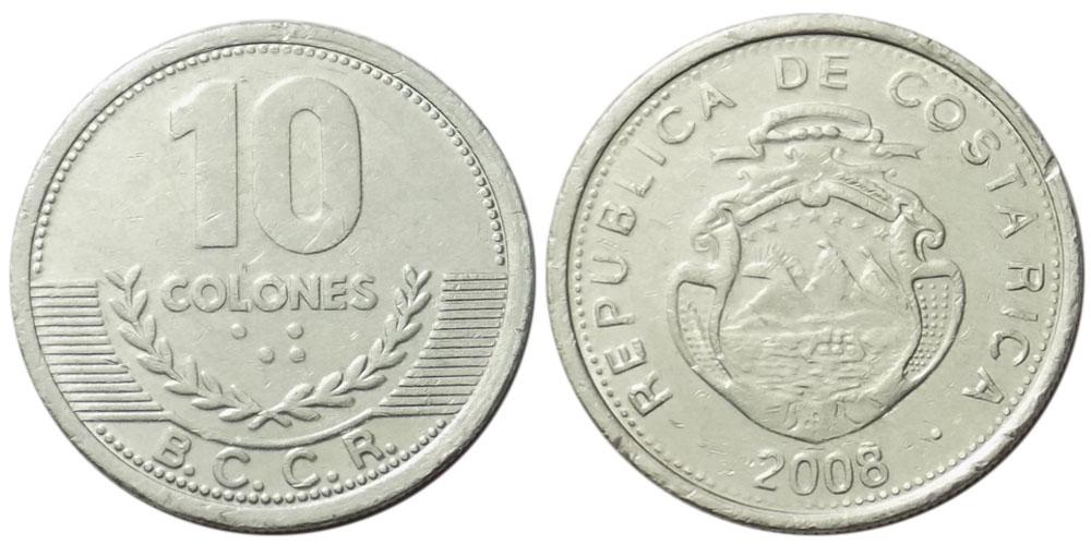 10 колон 2008 Коста Рика UNC
