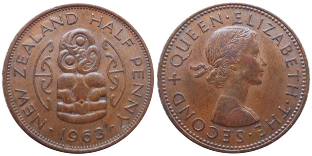1/2 пенни 1963 Новая Зеландия