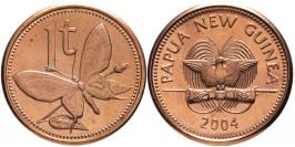 1 тойя 2004 Папуа Новая Гвинея — Бабочка UNC