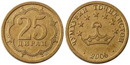 25 дирам 2006 Таджикистан — магнитная UNC