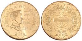 5 писо 2014 Филиппины UNC