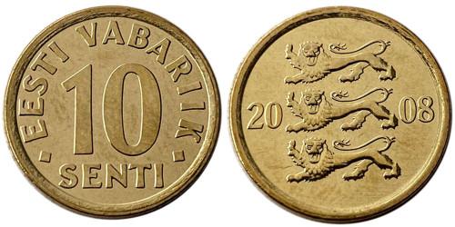 10 сентов 2008 Эстония