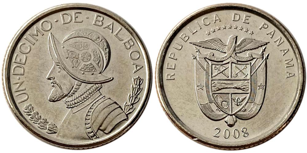1/10 бальбоа 2008 Панама UNC