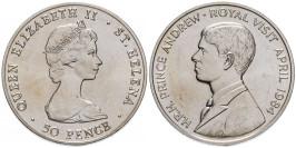50 пенсов 1984 остров Святой Елены