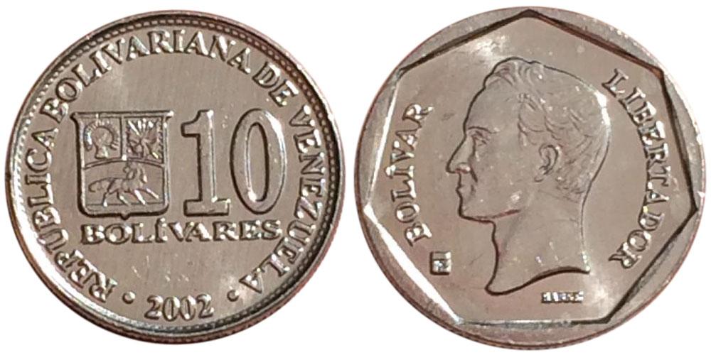 10 боливаров 2002 Венесуэла UNC
