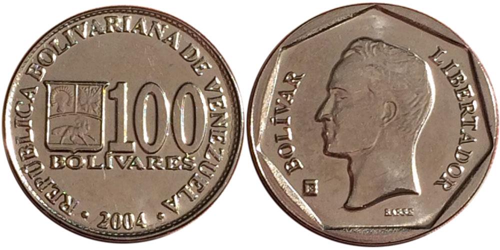 100 боливар 2004 Венесуэла UNC