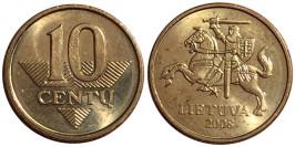 10 центов 2008 Литва UNC