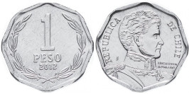 1 песо 2012 Чили UNC