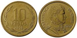 10 песо 2012 Чили UNC