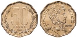 50 песо 2012 Чили UNC
