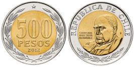 500 песо 2012 Чили UNC