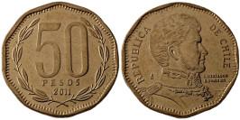 50 песо 2011 Чили UNC