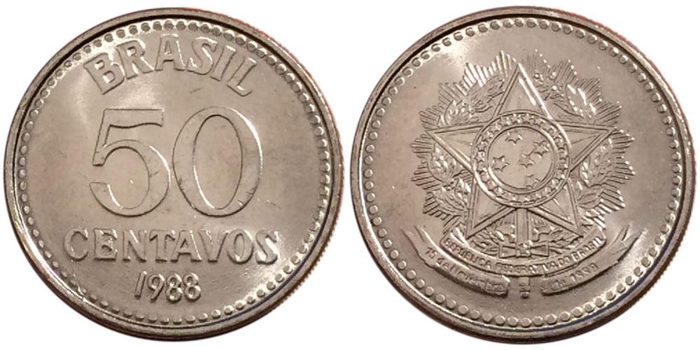 50 сентаво 1988 Бразилия