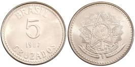 5 крузадо 1987 Бразилия