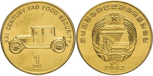 1 чон 2002 Северная Корея — Старинный автомобиль. F.A.O.