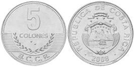 5 колон 2008 Коста Рика UNC