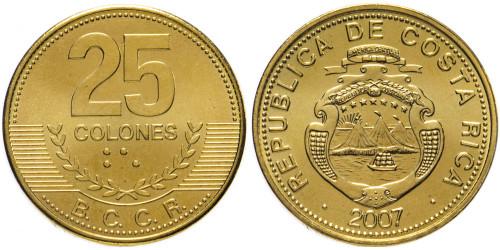 25 колон 2007 Коста Рика UNC