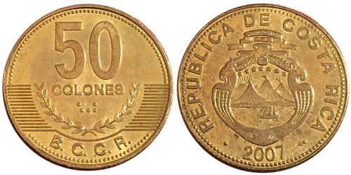 50 колон 2007 Коста Рика UNC