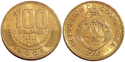 100 колон 2007 Коста Рика UNC