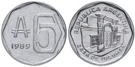 5 аустралей 1989 Аргентина UNC
