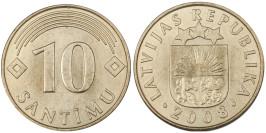10 сантимов 2008 Латвия UNC