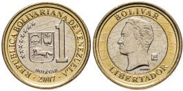 1 боливар 2007 Венесуэла UNC