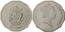 50 центов 2008 Соломоновы острова UNC
