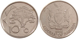 10 центов 2002 Намибия UNC
