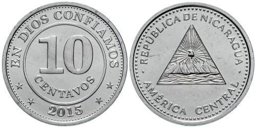 10 сентаво 2015 Никарагуа UNC