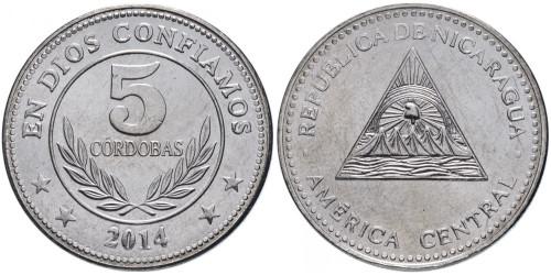 5 кордоб 2014 Никарагуа UNC