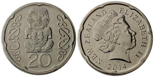 20 центов 2014 Новая Зеландия UNC