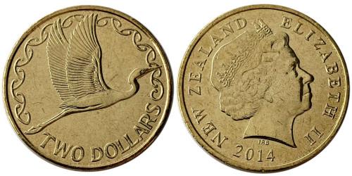 2 доллара 2014 Новая Зеландия UNC