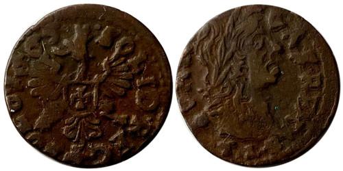 1 солид (боратинка) 1663 Польша — герб Польши на реверсе