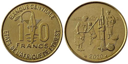 10 франков 2020 Западная Африка UNC