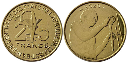 25 франков 2020 Западная Африка UNC