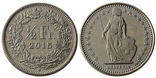 1/2 франка 2015 Швейцария