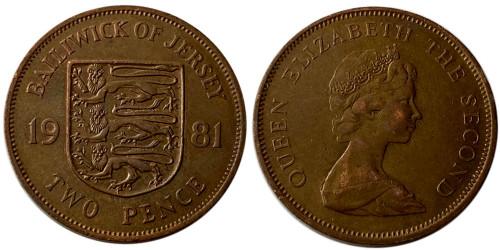 2 пенса 1981 остров Джерси