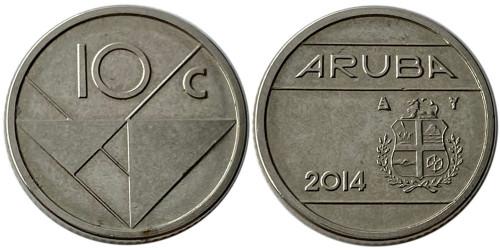 10 центов 2014 Аруба