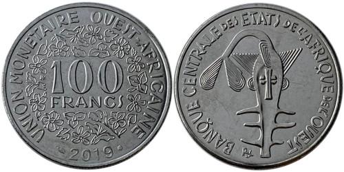 100 франков 2019 Западная Африка UNC