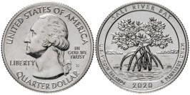 25 центов 2020 S США — Парк и экологический заповедник Бухта Солёной реки — Salt River Bay UNC