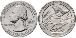 25 центов 2020 S США — Национальный заказник Таллграсс Прейри — Tallgrass Prairie UNC