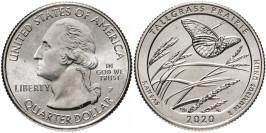 25 центов 2020 P США — Национальный заказник Таллграсс Прейри — Tallgrass Prairie UNC