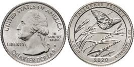25 центов 2020 D США — Национальный заказник Таллграсс Прейри — Tallgrass Prairie UNC