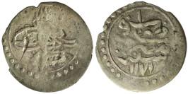 1 пара 1757 Египет — «١» сверху на реверсе — серебро