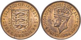 1/12 шиллинга 1945 остров Джерси — Освобождение (Король Георг VI)