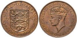 1/12 шиллинга 1947 остров Джерси