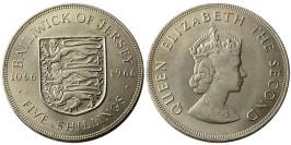 5 шиллингов 1966 остров Джерси — 900 лет битве при Гастингсе