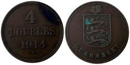 4 дубля 1914 остров Гернси