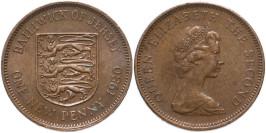 1 новый пенни 1980 остров Джерси